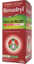 BENADRYL® Mucus Relief™ Double Action Cough Liquid