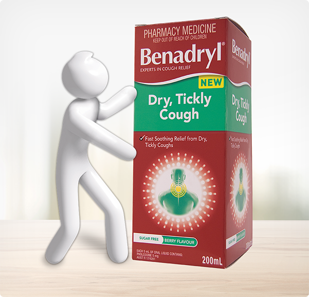 BENADRYL® Dry, Tickly Cough Liquid