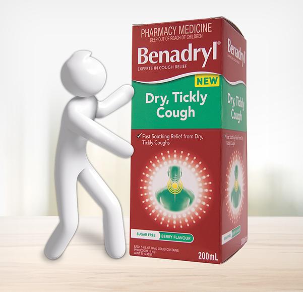 BENADRYL® Dry, Tickly Cough Liquid