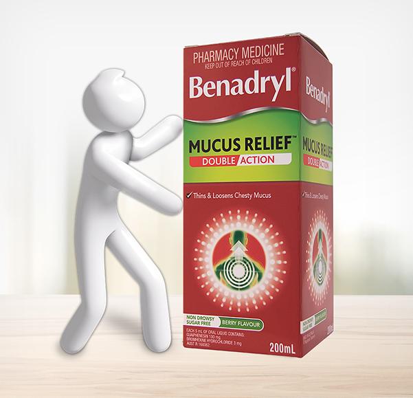 BENADRYL® Mucus Relief™ Double Action Cough Liquid